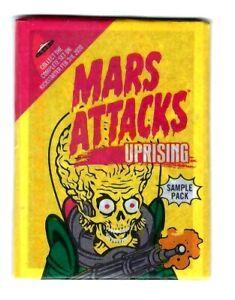 2020 TOPPS Mars Attacks soulèvement 5 aperçu carte scellé Sample Cire Pack Livraison Gratuite