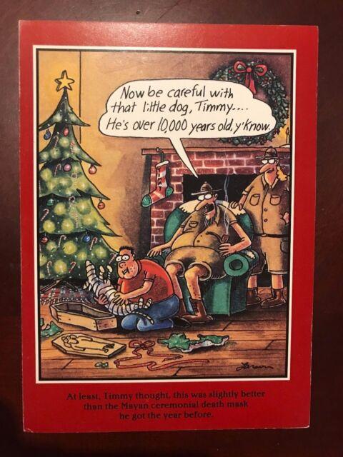 Vintage Xmas Greeting Card 1993 Old-stock Far Side Gary Larson Dog W ...