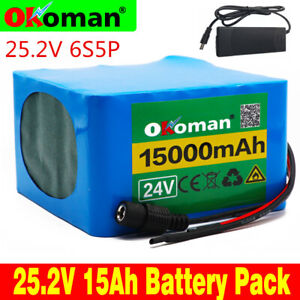24V15AH-Li-ion-Battery-Volt-Rechargeable-Bicycle-500W-E-Bike-Electric-Charger