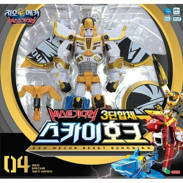 Geo Mecha Beast Guardian Trestle Sky Hawk transformerar Robot leksak ungar Gift u mg
