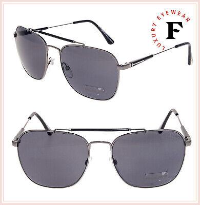c840568d0e TOM FORD TF377 EDWARD 09D Black Gunmetal POLARIZED Sunglasses Metal  Navigator