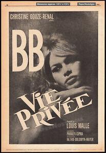 Vie-Privee-A-Very-Private-Affair-Orig-1961-Trade-AD-poster-BRIGITTE-BARDOT