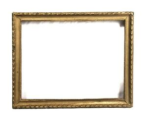 Antique-Art-Nouveau-Ornate-Gold-Gilt-Gesso-Picture-Frame-Fits-9-034-x-7-034