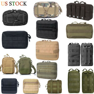 Tactical Molle Pouch EDC Belt Bag Hanging Waist Utility Tool Bag Multi-purpose