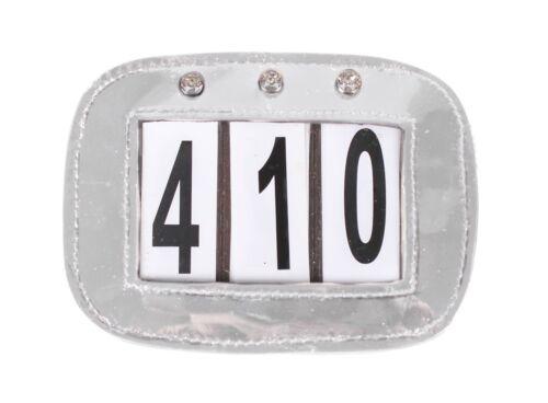 Nummernhalter Lackleder Startnummern 3-stellig Strass Kopfnummern