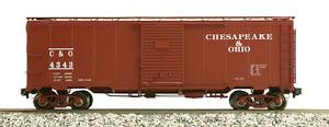Accucraft Am32-556 Sarre Box Car-chesapeake & Ohio, Différents Numéros, C & O-afficher Le Titre D'origine