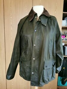 Barbour-Bedale-Mens-wax-jacket-Green-coat-40-in-size-Medium