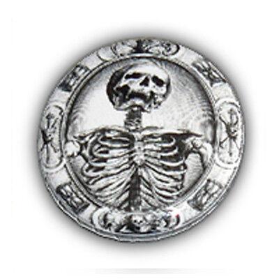 Badge SQUELETTE Os Bones skull death tete de mort punk rock rockabilly Ø25mm
