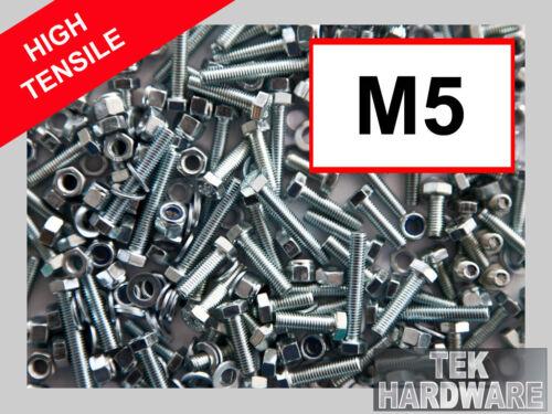 M5 150 MIX Filets complets Goujons Haute Résistance écrous et boulons en acier Grade 8.8