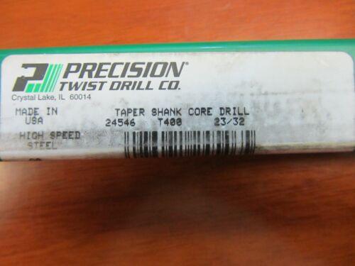 Twister Drill Taper Shank Core Drill T400 23//32 High Speed Steel