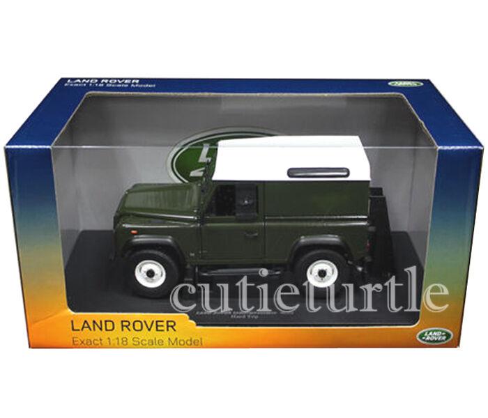 Universal Hobbies Land Rover Defender 90 Hard Top 1 18 Diecast verde UH3882