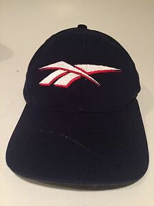 Vtg-80s-90s-Reebok-Hat-Ball-Cap-Lid-Adjustable-Strapback-Fast-Shipping