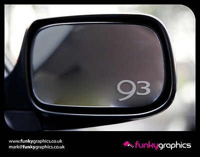 MG TF SYMBOL WING MIRROR ETCHED GLASS CAR VINYL DECALS STICKERS SILVER ETCH
