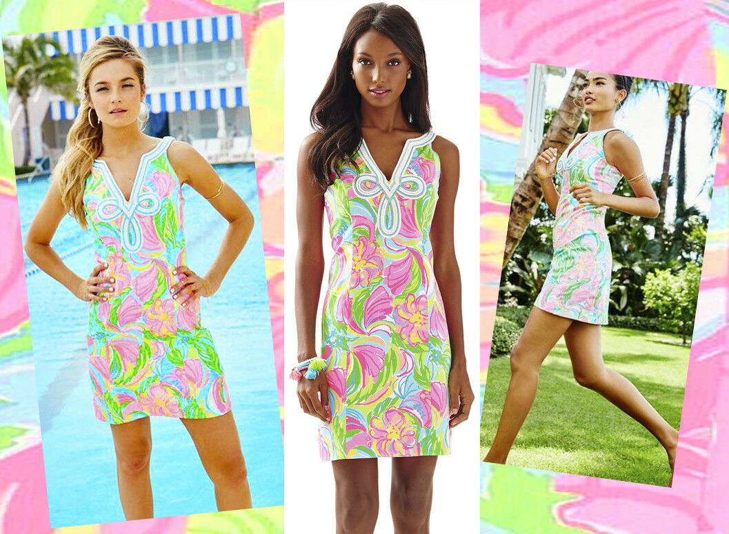 198 Lilly Pulitzer Tessa Multi So A Peeling Soutache Detail Shift Dress