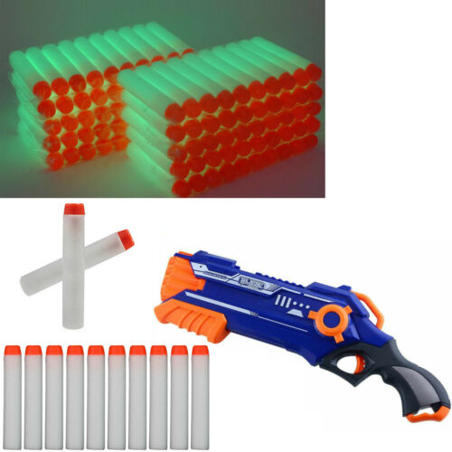 100PCS pistola proiettili soft RICARICA freccette testa rotonda per blaster Nerf N-Strike giocattolo