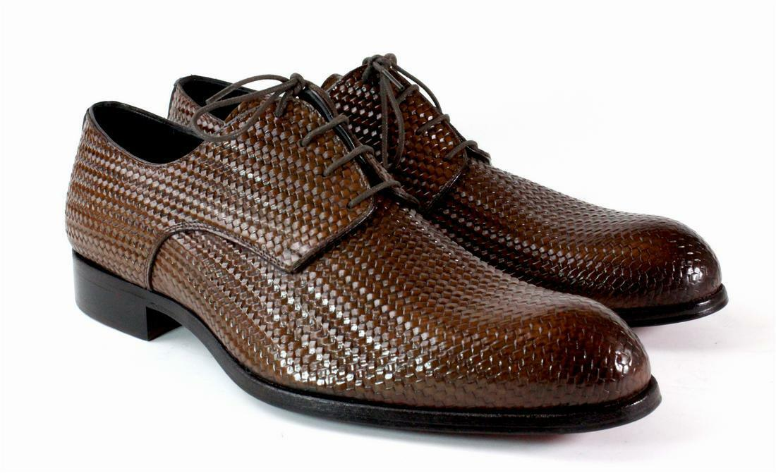 Ivan Troy Brown Handmade Italian Leather Dress shoes Oxford shoes Men shoes