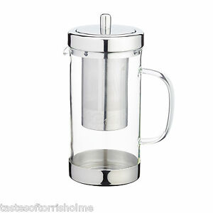 Kitchen-Craft-Le-039-Xpress-Glass-amp-Stainless-Steel-Loose-Leaf-Tea-Infuser-Teapot