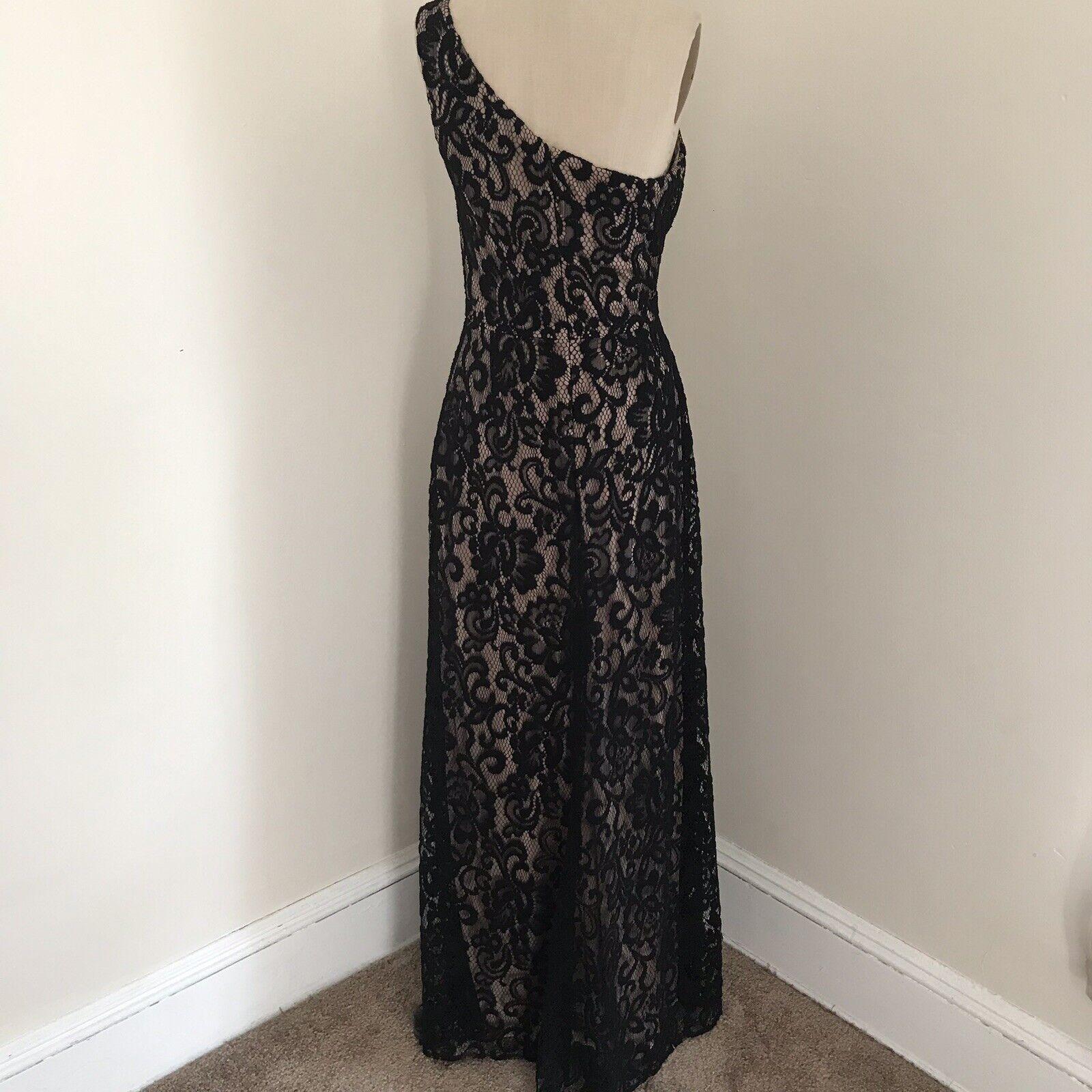 Dessy Collection Gown Black Lace One Shoulder Dre… - image 4
