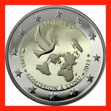 PIECE 2 EURO MONACO ANNEE 2012 20e ANNIVERSAIRE ADHESION A L'ONU