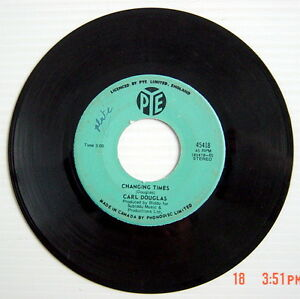 ONE-45-R-P-M-RECORD-CARL-DOUGLAS-DANCE-THE-KUNG-FU-CHANGING-TIMES