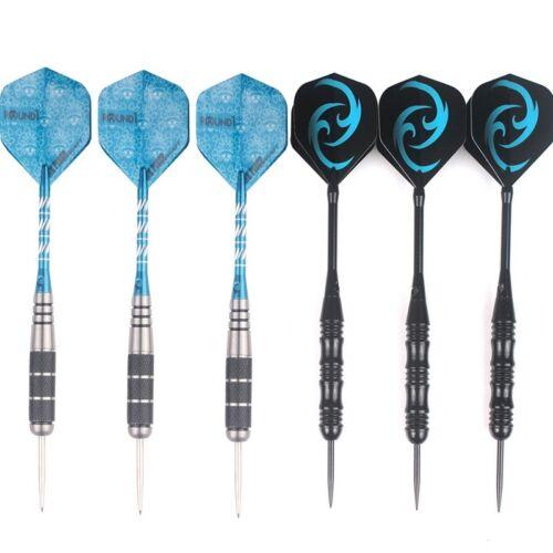 3//6pcs Set Steel Needle Tip Darts With Dart Flights Aluminium Shafts 23g New