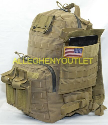 More USMC FILBE COYOTE 3 DAY ASSAULT PACK Bugout Bag w// Hydration Bladder