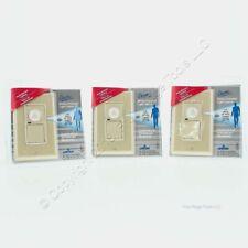 3 Leviton Ivory Single Pole Decora Motion Sensor Occupancy Switches 300w 6780 I