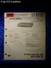 Sony Service Manual ST D707 Tuner (#0812)