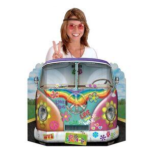 Hippie-Camper-Van-Bus-photo-Prop-94-x-64-cm-Sixties-Party-Decorations-Decoupes
