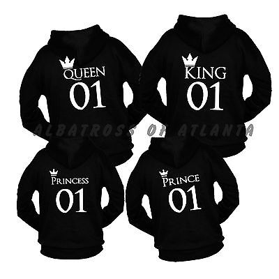 King Queen Couple Matching Mother/'s// Father/'s Day Gift Romantic Stag Back Jumper