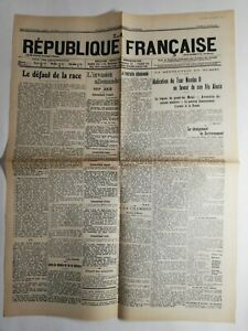 N263-La-Une-Du-Journal-la-Republique-Francaise-17-mars-1917-le-defaut-de-la-race