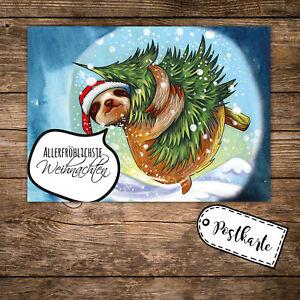 a6 postkarte weihnachten print weihnachtskarte mit. Black Bedroom Furniture Sets. Home Design Ideas