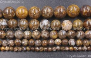 Natural-Fire-Lace-Opal-Gemstone-Round-Loose-Beads-4mm-6mm-8mm-10mm-12mm-15-5-039-039
