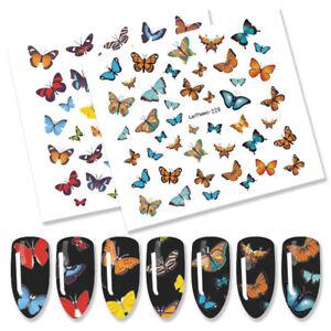 LEMOOC-Nail-Water-Decals-Single-Animal-Butterfly-Transfer-Stickers-DIY-Nail-Art