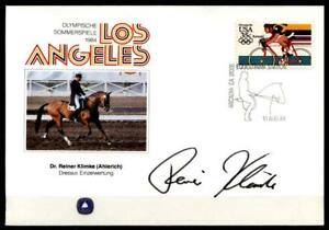 Audacieux Chevaux Dressage. Dr. R. Klimke, Autographe. Los Angeles - 1984. Sost. Usa 1984-afficher Le Titre D'origine Chaud Et Coupe-Vent