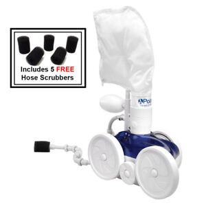 Polaris-Vac-Sweep-280-Pressure-Inground-Auto-Swim-Pool-Cleaner-F5-w-5pk-Scrubber