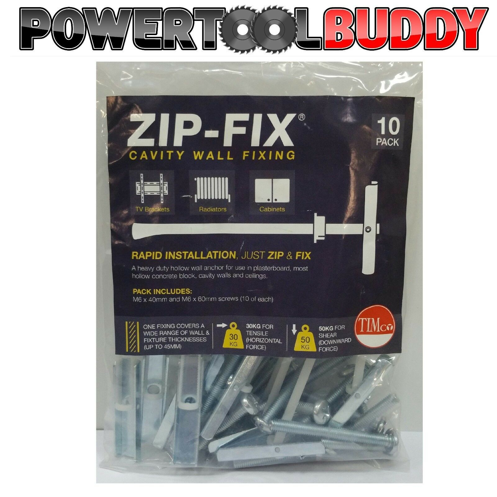 GENUINE M5 TOGGLER HEAVY DUTY  PLASTERBOARD FIXING TOGGLER//SNAPTOGGLE