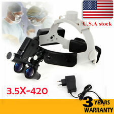 Medical Surgical Optical Magnifier 35x 420mm Binocular Loupes With Led Headlight