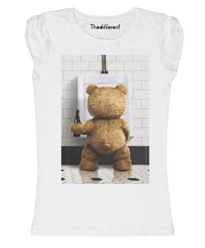 New T-Shirt Donna Fiammata Ted Bagno Birra Funny Idea Regalo