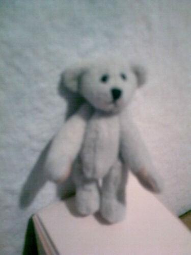 cremeweißer Teddy 6 cm unbespielt Hermann Teddy Miniaturen Sammlerteddy