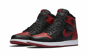 separation shoes cce82 5ecb1 Nike Air Jordan 1 Retro High OG Banned Bred Black Red Shoes 555088 001