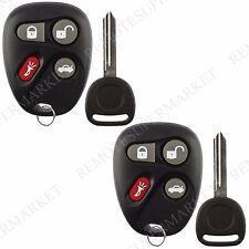 2 Replacement for Chevrolet 2001-2005 Malibu 2003-2006 SSR Remote Fob Key Set