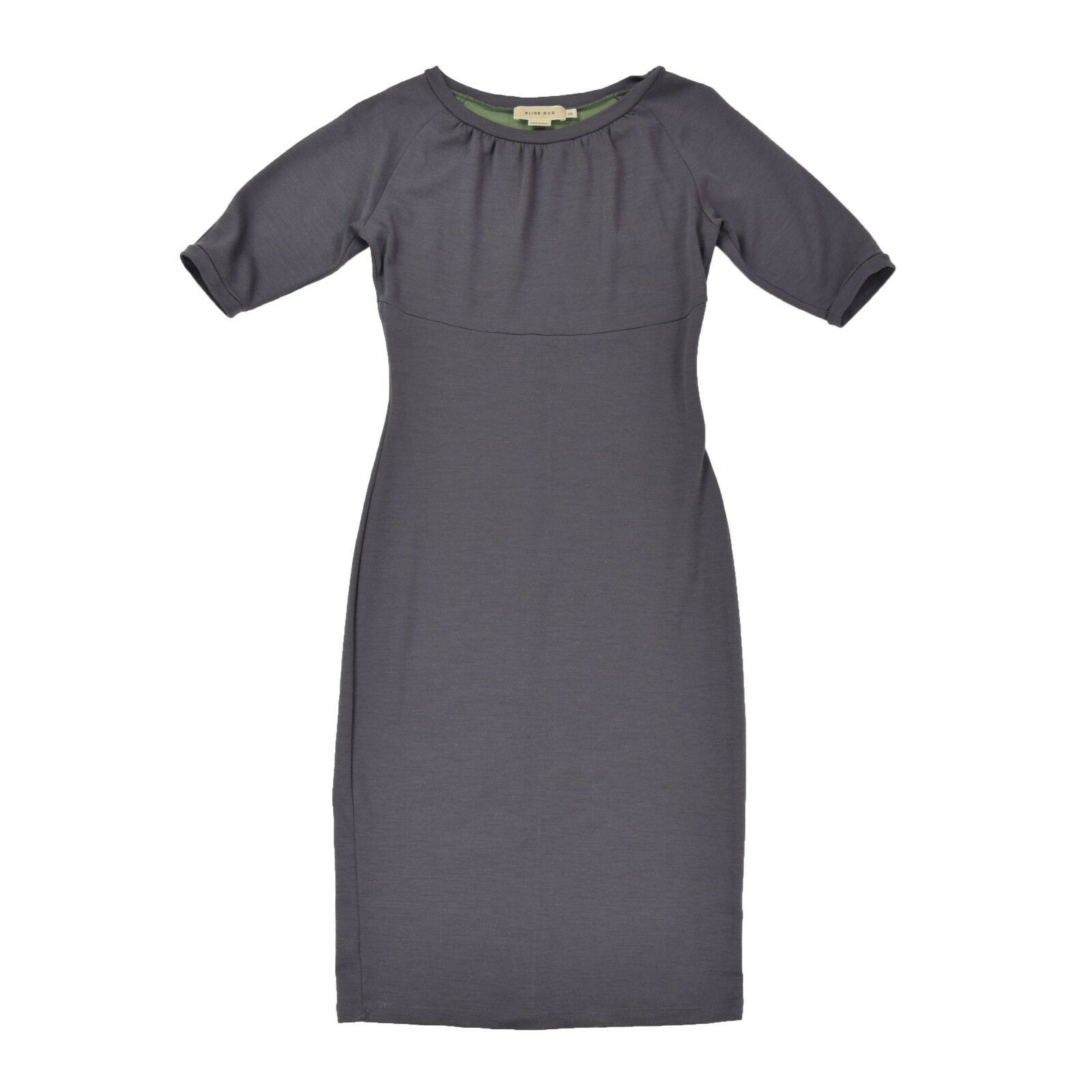 ELISE GUG Damen Kleid M 38 grau Wolle Woman Dress Skirt Strechkleid wie NEU