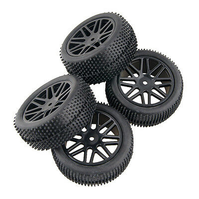 RC 4pcs Front&Rear Tires Insert Sponge Wheel HSP 1:10 Off-Road Buggy 66066-66076