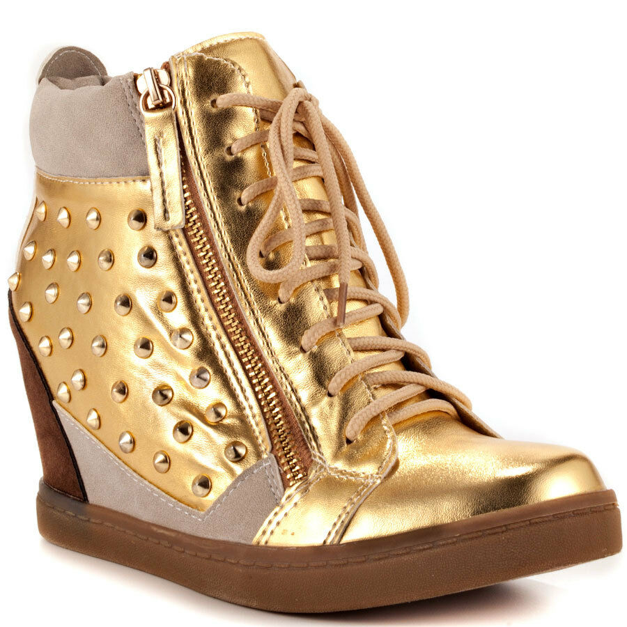 NYLA Dupree gold-Multi Women's  Wedge Ankle shoes Sizes  6-10