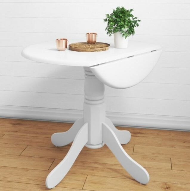 Awe Inspiring Small Dining Table White Round Furniture Butterfly Drop Leaf Space Saving Room Home Interior And Landscaping Ologienasavecom