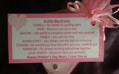 MOTHER'S DAY Little Bag Of Love - sentimental gift for mum mummy keepsake