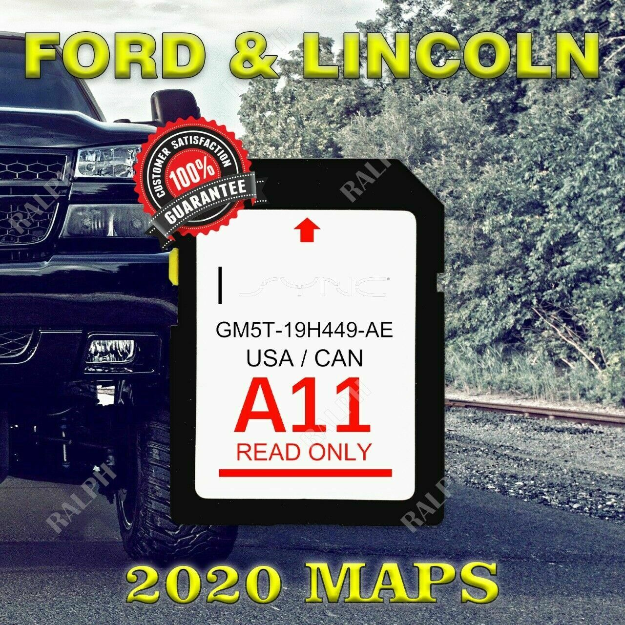 Ford Lincoln A10 Sync Sd Card Navigation 2019 Us Canada Map Updates A9 A8 A7 For Sale Online Ebay