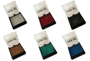 Lot-de-6-fards-a-paupieres-paillette-argente-rouge-noir-dore-vert-amp-bleu