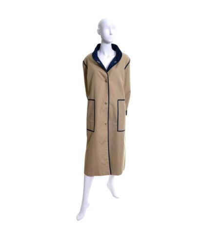 Vintage Bonnie Cashin Tan & Navy Rain Coat